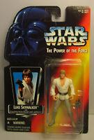 1995  Kenner Star Wars Luke Skywalker Long Saber POTF 2 Red Card Sealed Figure
