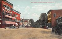 1913 Stores Main St. from Bank Building Brewster NY post card Putnam county