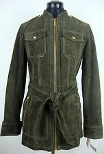 MICHAEL KORS Lederjacke Damen Jacke Leather Jacket Oliv Gr.L NEU mit ETIKETT
