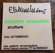 Giuseppe Rivadossi sculture Galleria Etrusculudens 1974
