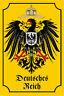 Empire Allemand Armoiries Aigle Pancarte en Tôle Signe Métal Étain 20 X 30 CM