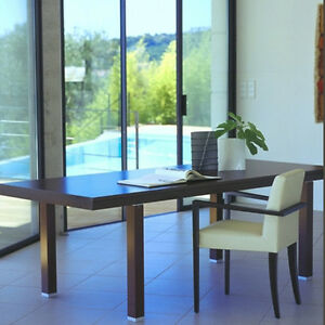 LIGNE ROSET Fashion Dining Table - Dark Brown - High end Italian design
