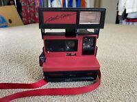 Polaroid 600 Cool Cam Camera Instant Camera Film Flash Red Black VTG Untested
