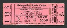 1973 Jetrho Tull Unused Concert Ticket A Passion Play Tour Met Center Minnesota