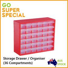 Storage Drawer w/ 36 Compartments,Plastic Tool Box Tool Organiser Bin Screw Case