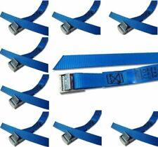 8 Stück Befestigungsriemen mit Klemmschloss für Fahrradträger Spanngurt blau