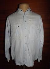 VAN HEUSEN CUSTOM CLUB WORKWEAR MEN'S SHIRT SIZE LARGE SNAP FRONT DUCK CLOTH