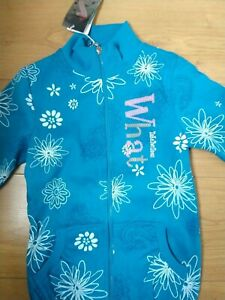 Papillon Girls Sky Blue Floral Print Sweatshirt Age 6 years Height 114cm