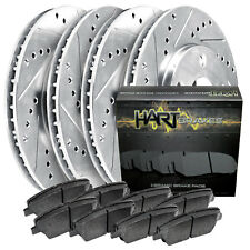 2005-2010 Mustang Full Kit Hart Drilled Slotted Brake Rotors and Ceramic Pads