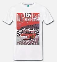 T-SHIRT MAGLIA MINI COOPER RALLY DI MONTECARLO 1967 AUTO D'EPOCA - 1 - S-M-L-XL