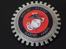 USMC United States Marine Corps Grille Badge License Plate Topper Accessory Jeep