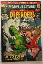 Marvel Feature # 3 3rd Appearance The Defenders Marvel Fine Hulk Comic Book