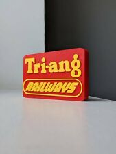 More details for decorative self-standing tri-ang railways logo display