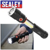 Sealey 2 in 1 Aluminium Torch 5W XPG CREE + Sliding 3W COB LED Lamp