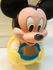 New listing Vintage 1984 Disney Mickey Mouse Yellow Rocky Roly Poly Chime Toy With Mirror