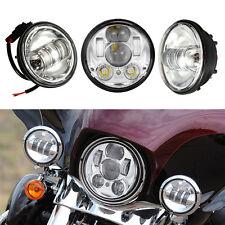 "5.75"" Harley Cree LED Projection Headlight & 4.5'' LED Fog Spot Driving Lights"
