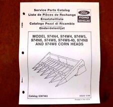 New Holland Parts Catalog 974N4 974W4 974W5 974N6 974W6 974N8 974W8 Corn Heads