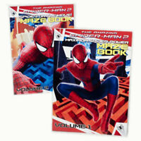 2x Maze Activity Books Marvel Spider-Man Volume 1-2 NEW
