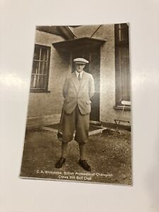 C.A. Whitcombe Postcard Crews Hill Golf Club Real Photograph Postcard