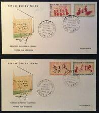 REPUBLIQUE Du TCHAD-2 FDC -BAILLOUD paintings- 1968- 4 stamps