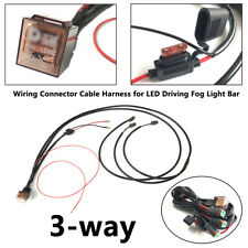 3-way Universal LED Light Bar 40A Fuse Wiring Harness Kit 12V 80AMP Relay Cable