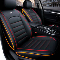 ✅ Universal Full Car Seat Covers Mat PU Leather Pad Breathable Cushion Pad  ^
