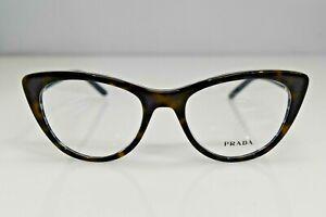 Prada Authentic Cat Eye Havana Blue VPR05X 512-1O1 51-18-140 Eyeglasses