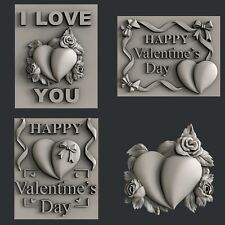 3d STL models for CNC, Artcam, Aspire, relief Valentine's Day