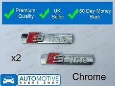 S Line Badge Chrome Silver Rear Boot Emblem Sticker Side Wing Fender - Line 2
