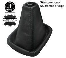 BLACK STITCH TOP GRAIN REAL LEATHER MANUAL GEAR GAITER FOR AUDI A4 B5 1995-2000