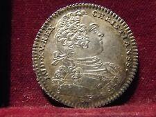 Monnaie France Louis XV Jeton Ordinaire des guerres 1757 Argent FdC