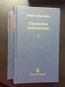 J. J. Becher, Chymisches Latoratorium, 2 vols. (2002)