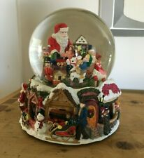 Kirkland Signature Musical Santa Snow Water Globe Revolving Base Mint in Box