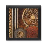 African Circles I Black Framed Art Print Poster 12x12