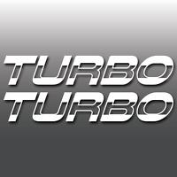 2x Turbocharged Car Van Window Bumper Vinyl Decal Sticker JDM, Euro, DUB, Boost