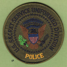 SECRET SERVICE UNIFORMED DIVISION POLICE SHOULDER PATCH  (Subdued) Yellow script