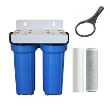 "Whole House Water Filter System 10"" x 2.5"" inc Carbon + Sediment Cartridge"