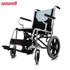 Aluminium Wheelchair Mobility Transport Chair Disabled Foldable Scooter Kid
