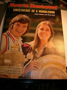 Sports Illustrated July 15th,1974 Connors and Evert Sweetheart of a Wimbledon