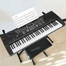 More details for 61 key electronic keyboard mp3 musical instrument digital piano mic uk plug