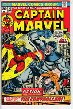 CAPTAIN MARVEL # 30 AVENGERS THANOS 1974 The CONTROLLER nice copy