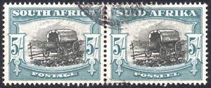 South Africa 1947-54 5s black & pale blue-green, SG.122, VFU, cat.£80