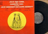 Julie & Carol At Carnegie Hall Vinyl LP Record Free Shipping