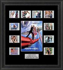 James Bond a View to a Kill Framed 35mm Film Cell Memorabilia Filmcells Movie