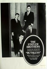 THE STATLER BROTHERS 1967 Poster Ad RUTHLESS