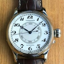 LONGINES HERITAGE WEEMS SECOND-SETTING WATCH REF L2.713.4.11.0 AUTOMATIC 47.5 MM