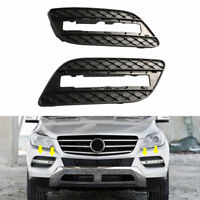 Pair Front Bumper Fog Driving Light Grille Cover For Mercedes ML350 ML550 12-15