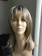 JON RENAU Large Long Layered Open Cap Wig, Blonde with darker roots 12FS8