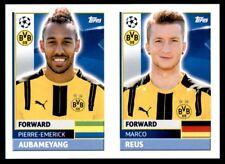Topps CL 2016-17 DOR18/DOR19 Marco Reus/Aubameyang Borussia Dortmund