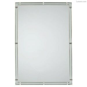 Parker Place 22.375 In. W X 32.5 In. H Rectangle Wall Decor Mirror With Brushed